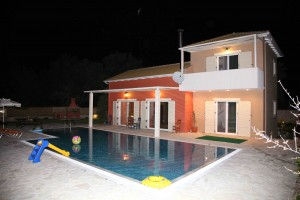 Villa Niriides outside night